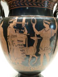 Alte Vase mit Apollo und Artemis Zakynthos  (Zakynthos, 415-400 BC)