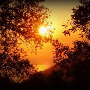 Ein wunderschöner Sonnenuntergang bei Zakynthos