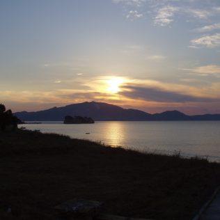 Ein Sonnenuntergang am Meer von Zakynthos